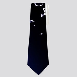 Orca jumping by a circle made og water Neck Tie
