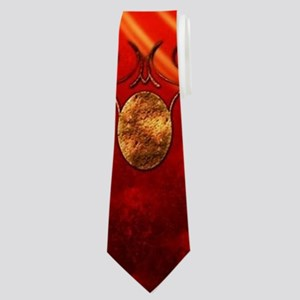 The sign om in gold Neck Tie