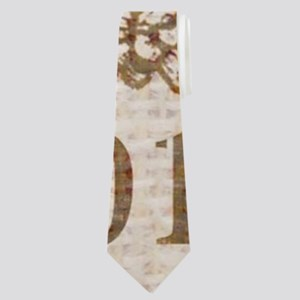burlap french vintage bee Neck Tie