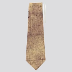 vintage ruins church candles Neck Tie