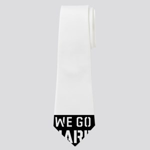WE GO HARD(WHITE PRINT) Neck Tie
