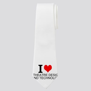 I Love Theatre Design And Technology Neck Tie