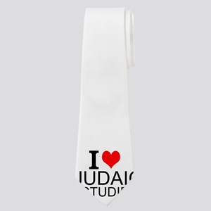 I Love Judaic Studies Neck Tie
