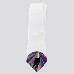 Skateboard on a Building Ray Neck Tie