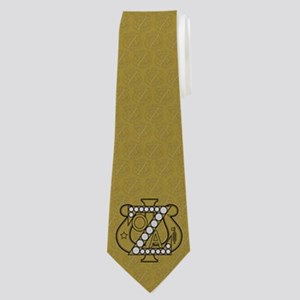 Zeta Psi Gold Badge Neck Tie