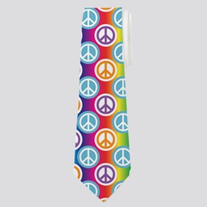 Hippy Peace Polka Dot Neck Tie