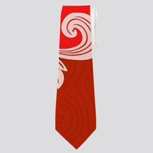 Cute Santa Claus on red background Neck Tie