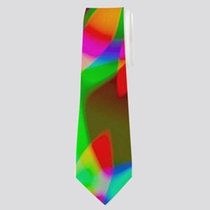 Rainbow Hippie Swirl Neck Tie