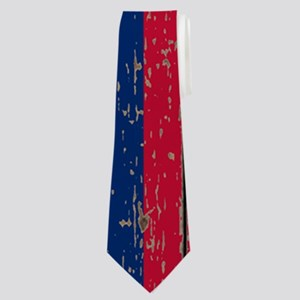 barn wood Texas Flag Neck Tie