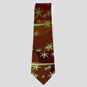 Funny Santa Claus flying with a dragon Neck Tie