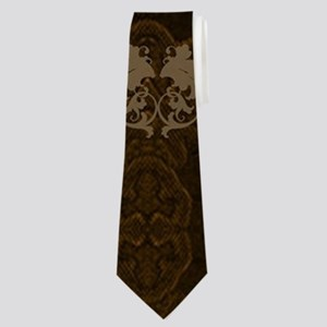 Music, clef with floral elements Neck Tie