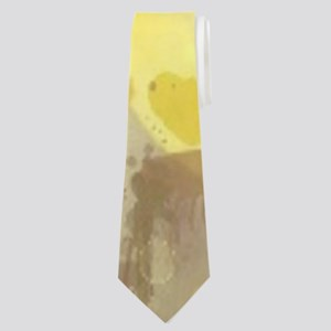 romantic summer watercolor sunflower Neck Tie