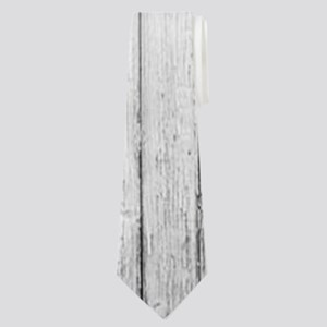 shabby chic white barn wood Neck Tie