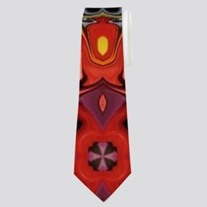 yellow sun tribal sun pattern Neck Tie