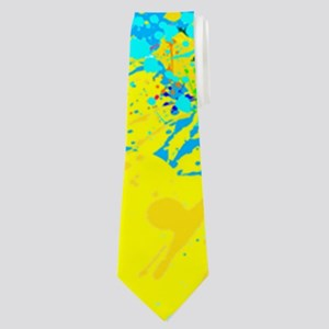 Splash Words of Good Yellow Peace Neck Tie