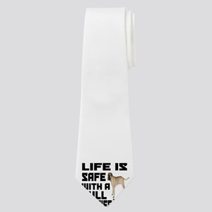 Life Is Safe With A Bullmastiff Neck Tie