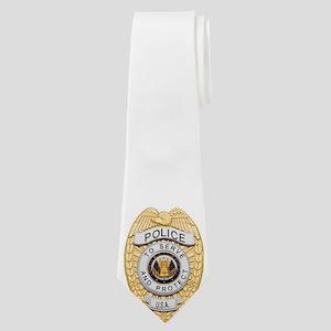 Police Badge Neck Tie