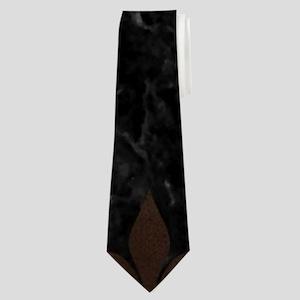 ROYAL1 BLACK MARBLE & BRONZE METAL (R) Neck Tie