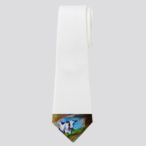 Cow! Bright, animal art! Neck Tie