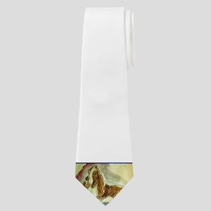 Basset Hound, dog, art! Neck Tie