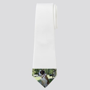 saint bernard sitting 2 Neck Tie