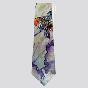 Loons and Lilies Neck Tie
