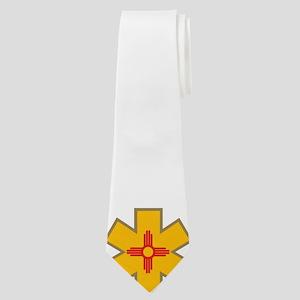 New Mexico Zia Star of Life Neck Tie