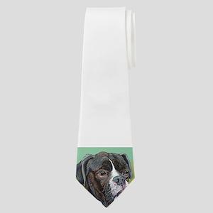 Black Boxer Neck Tie