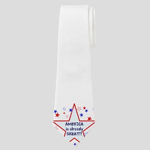 America is already great, vote 2016 Neck Tie
