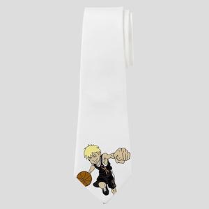 PERSONALIZED BASKET BOY AUTISM RIBBON Neck Tie