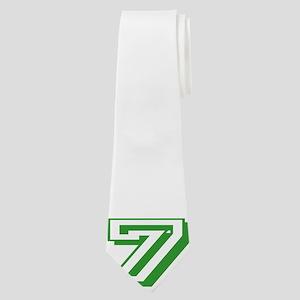 7 Green Birthday Neck Tie