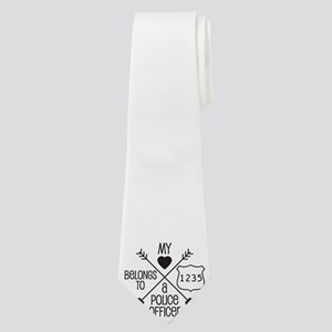 My Heart Belongs to a Police Officer Neck Tie