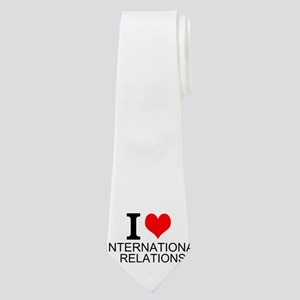 I Love International Relations Neck Tie