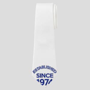 Established Since 1974 Neck Tie