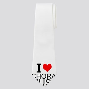 I Love Choral Music Neck Tie