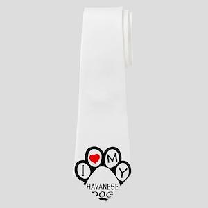 I Love My Havanese Dog Neck Tie
