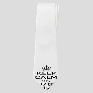 Keep calm It's my 7th Birthday Neck Tie