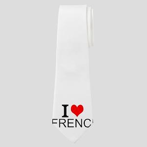 I Love French Neck Tie