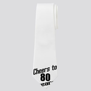 Cheers To 80 Years Neck Tie