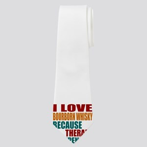 Drink Bourborn Whisky Is My Therapy Neck Tie