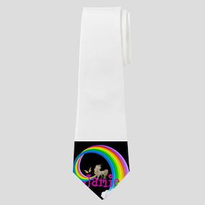 Unicorn rainbow personalize Neck Tie