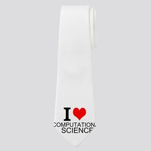 I Love Computational Science Neck Tie