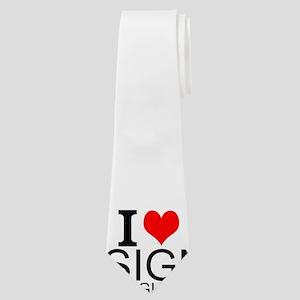 I Love Sign Language Neck Tie