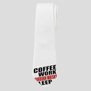 Coffe Work Bourborn Whisky Sleep Neck Tie