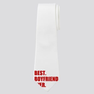 Red Best Boyfriend Ever Neck Tie