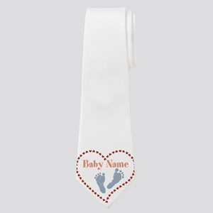 Baby Feet and Heart Neck Tie