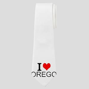 I Love Oregon Neck Tie