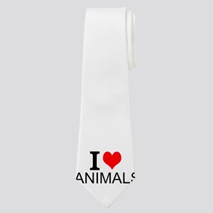 I Love Animals Neck Tie