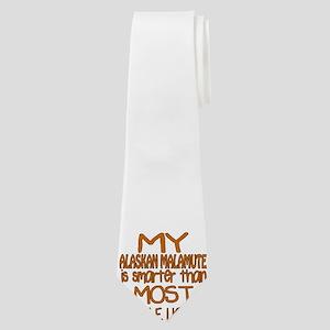 My Alaskan Malamute is smarter Neck Tie