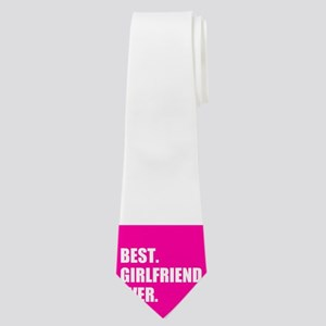 Best Girlfriend Ever in Hot Pink Neck Tie